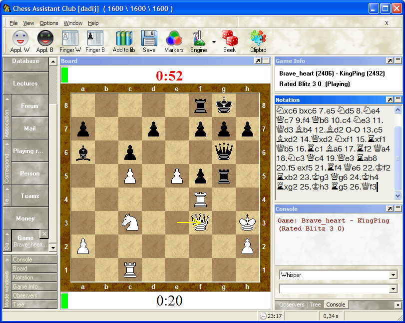 Программа chess assistant 12