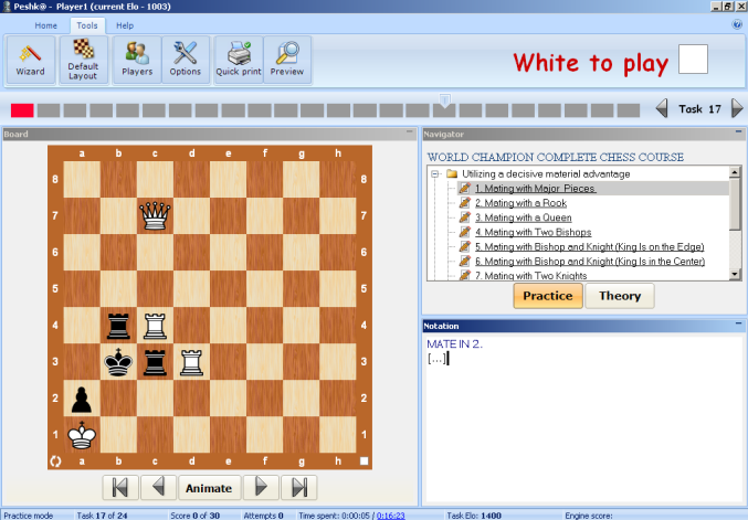NEW CHESS SOFTWARE Training Package for Beginners